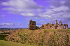 Ruin of medieval Sandal Castle. In Wakefield, England Royalty Free Stock Photos