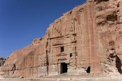 Ruin of Moghar Annassara Christian Tombs  in Petra Royalty Free Stock Photos