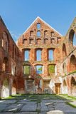 Ruin of a monastery building of red brick in Bad Doberan Stock Images
