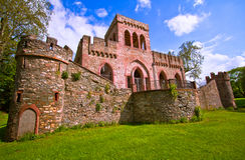 Ruin of the Mosburg Castle Stock Photo