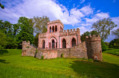 Ruin of the Mosburg Castle. Schlosspark Biebrich, Wiesbaden, Germany Stock Image