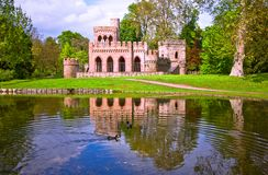 Ruin of the Mosburg Castle. Schlosspark Biebrich, Wiesbaden, Germany Stock Photography
