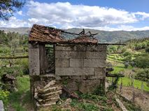 Ruin in Mountain Village. Ruin in Geres National Park in Northern Portugal. Situated in lovely mountain village stock photography