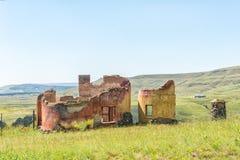 Ruin near Monks Cowl in the Kwazulu-Natal Drakensberg. A ruin near Monks Cowl in the Kwazulu-Natal Drakensberg Royalty Free Stock Photography