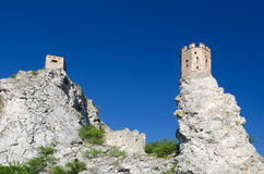 Ruin od Devin castle. Ruin of gothic Devin castle, Slovakia Royalty Free Stock Images