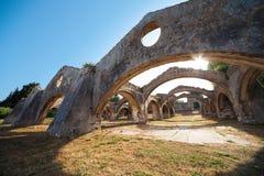Free Ruin Of Old Venetian Boat Repair Yard In Gouvia Stock Photography - 67949472