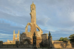 Ruin Of St Andrews Cathedral In St Andrews Stock Image