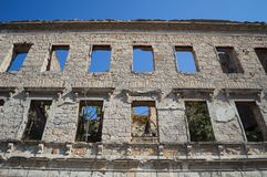 Ruin of Old Abandoned House in Decay, Mostar, Bosnia & Herzegovina. Ruin of Old Abandoned House in Decay, Mostar, Bosnia and Herzegovina Royalty Free Stock Image