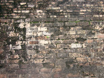 The ruin of old brick. Stone seamless texture background on trail - pattern for continuous replicate stock image