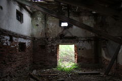 Ruin of old building Stock Image