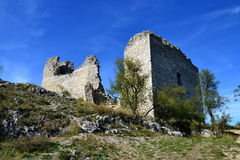Ruin of the old castle Stock Image