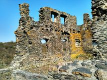 Ruin of an old castle. In Germany Royalty Free Stock Photos