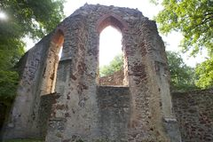 Ruin Of An Old Monastery Stock Photo