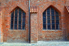 Ruin of an old monastery in stralsund, germany Royalty Free Stock Photography