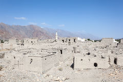 Ruin of an old Omani village Stock Image