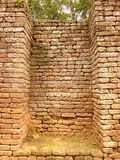 Ruin of old red brick stone Royalty Free Stock Images