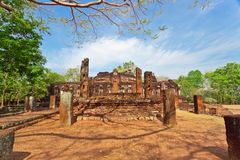 Ruin of old temple at Pang Pech,Thailand Royalty Free Stock Photo