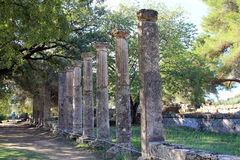 Ruin of Olympia. The ruin of Olympia, Greece Stock Photos