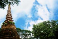 Ruin of pagoda and blue sky Royalty Free Stock Image