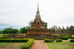 Ruin of the pagoda of the kingdom under the blue sky Stock Images