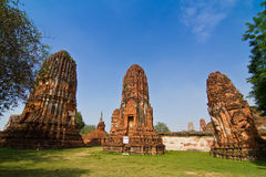 The Ruin of pagoda of wat mahathat Royalty Free Stock Photos
