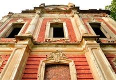 Ruin palace in the estate Znamenka. stock photography