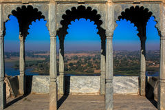 Ruin palace, landscape Sunrise with blue sky India Stock Photography