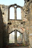 Ruin of palace windows of Oybin castle and monastery Royalty Free Stock Images