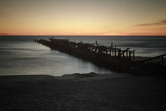 Ruin pier Royalty Free Stock Images