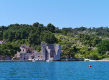 A ruin in Polace on Mljet in Croatia Royalty Free Stock Image