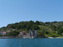 A ruin in Polace on Mljet in Croatia Stock Photography