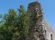 A ruin in Polace on Mljet in Croatia Stock Images
