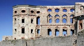 Ruin of Polish castle Royalty Free Stock Photo