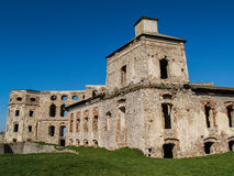 Ruin of Polish Mannerist castle Krzyztopor in the town Ujazd, Poland Royalty Free Stock Images