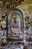 Ruin ramshackle arcades in row Edirne Turkey Royalty Free Stock Photos