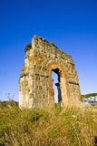 Ruin of the roman acqueduct Acqua Claudia. Stock Photo