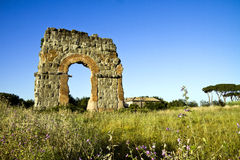 Ruin of the roman acqueduct Acqua Claudia. Royalty Free Stock Images