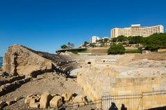 Ruin of Roman amphitheater at Tarragona Royalty Free Stock Image