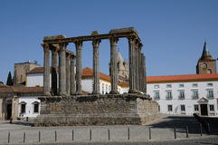 Ruin of roman antic temple Stock Images
