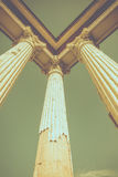 Ruin Roman style columns. With clear sky background in vintage tone Royalty Free Stock Photo