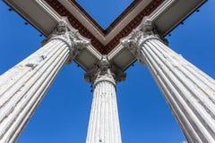 ขRuin Roman style columns Royalty Free Stock Images