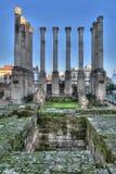 Ruin of the Roman temple Stock Photo