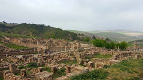 Ruin village of Djemila, Algeria. The ruins were built by the Romans 2000 years ago Stock Images