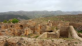 Ruin village of Djemila, Algeria. The ruins were built by the Romans 2000 years ago Royalty Free Stock Images