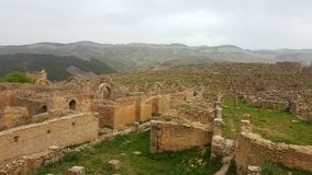 Ruin  village of Djemila, Algeria. The ruins were built by the Romans 2000 years ago Royalty Free Stock Image