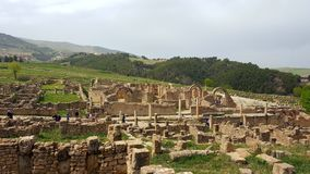 Ruin village of Djemila, Algeria. The ruins were built by the Romans 2000 years ago Stock Photos