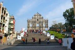 Ruin of the Sao Paulo, Macao Royalty Free Stock Photo
