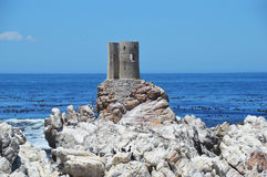 Ruin  on the savage beach and rocks in betty's bay - Hermanus Stock Photos