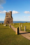 Ruin By The Sea Royalty Free Stock Photography