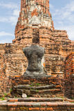 Ruin of seated buddha Royalty Free Stock Images